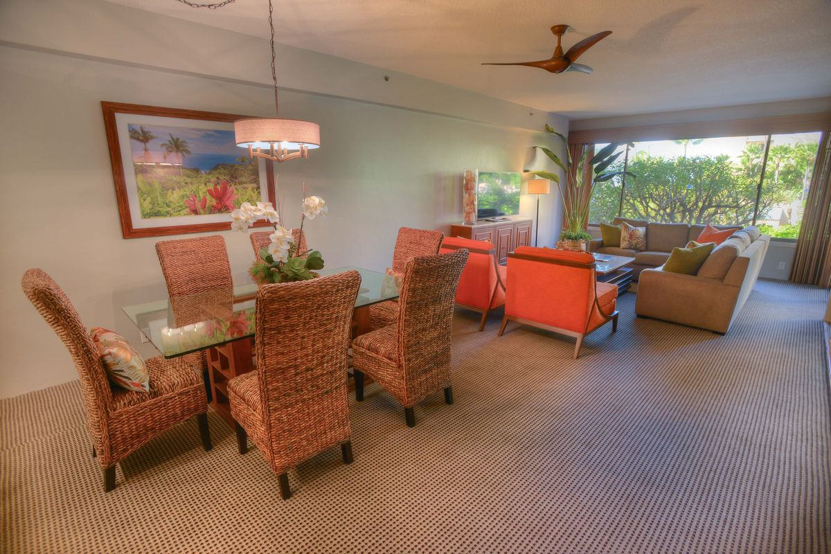 Sands of Kahana, Dining, Living Room, Maui West Coast, Ocean Views