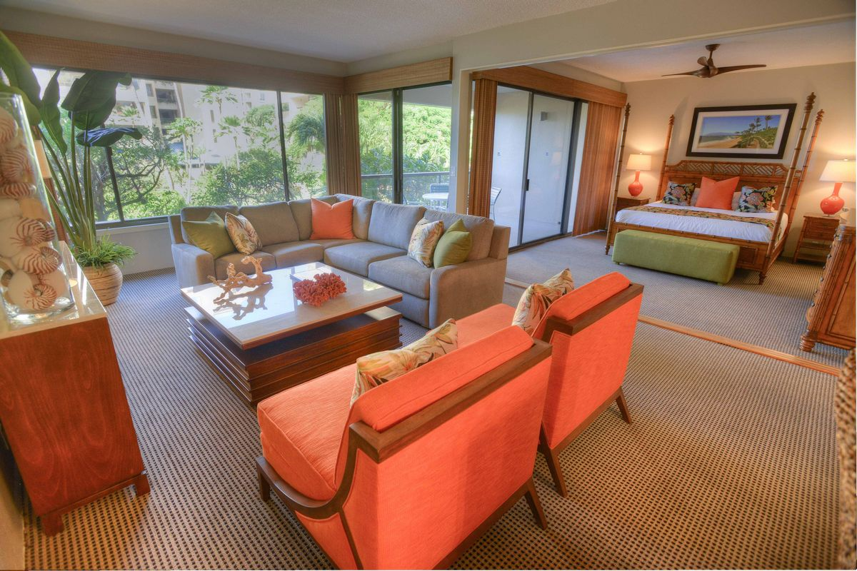 Sands of Kahana, Living Room, West Maui Beach,