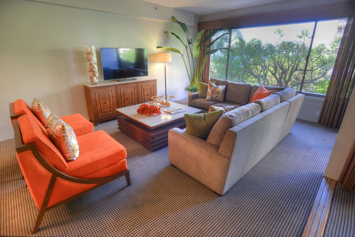 Sands of Kahana, Living Room, West Maui Beach, Ocean Views